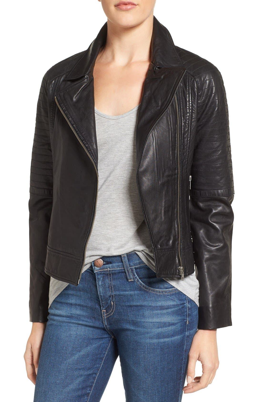 BB DAKOTA Stafford Washed Leather Jacket