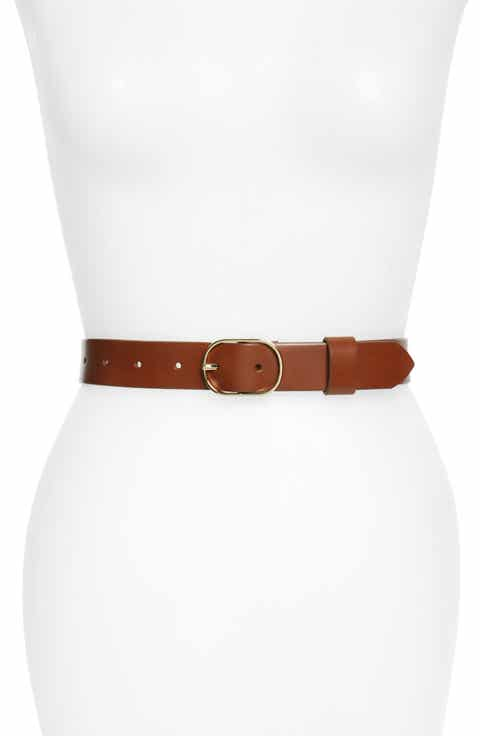 Halogen® Tailored Trouser Leather Belt (Regular   Plus)