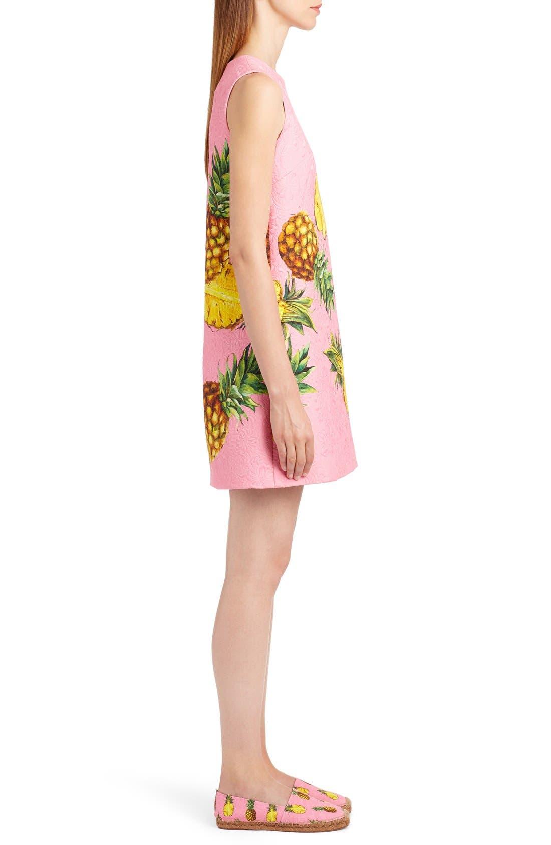 Alternate Image 4  - Dolce&Gabbana Pineapple Jacquard Shift Dress
