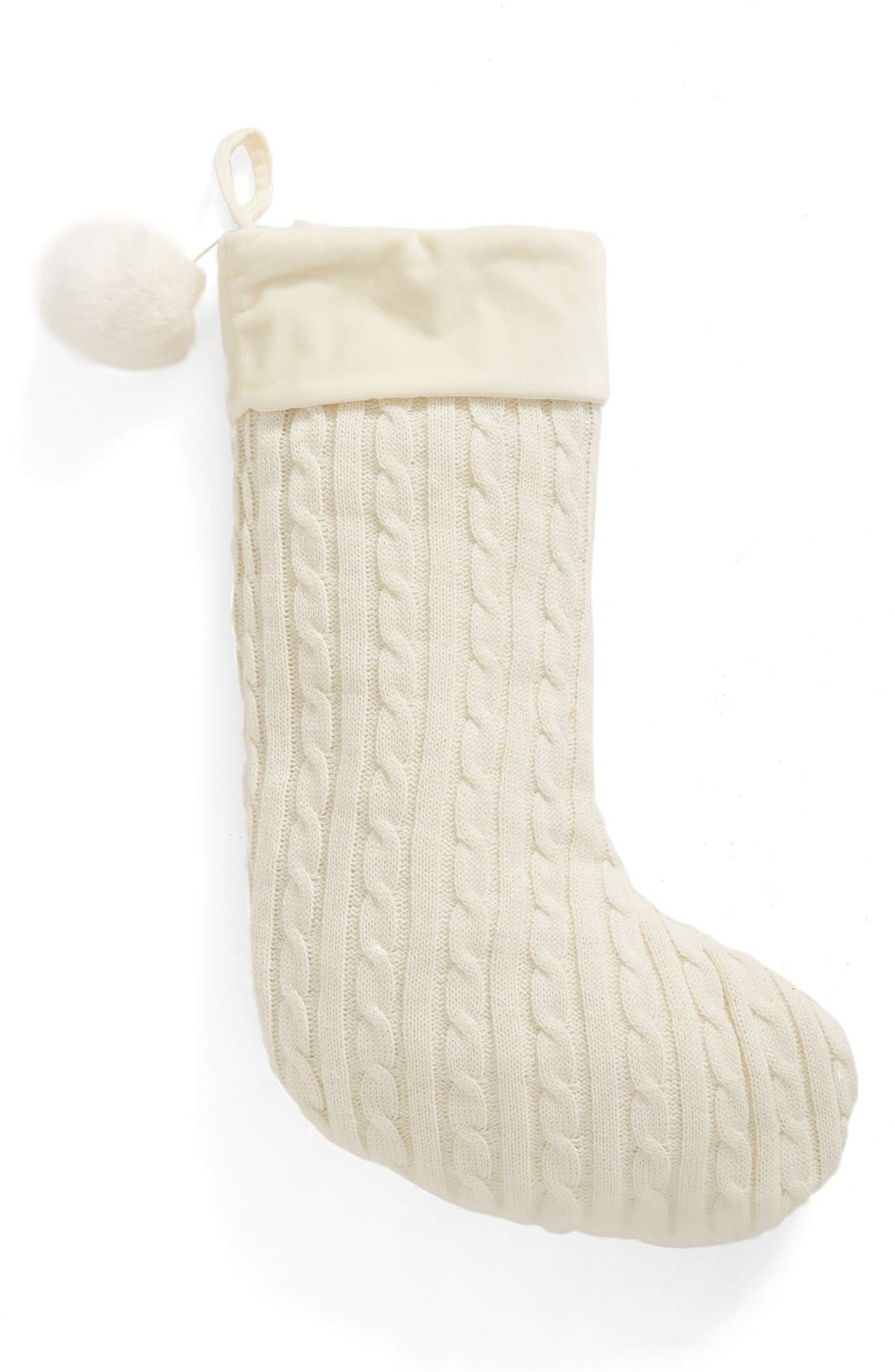 Alternate Image 1 Selected - Levtex Cable Knit Stocking