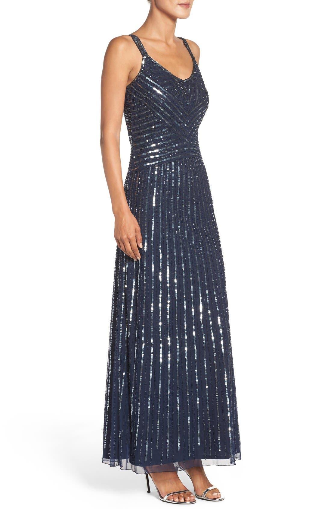 Alternate Image 3  - Pisarro Nights Embellished Mesh Fit & Flare Dress