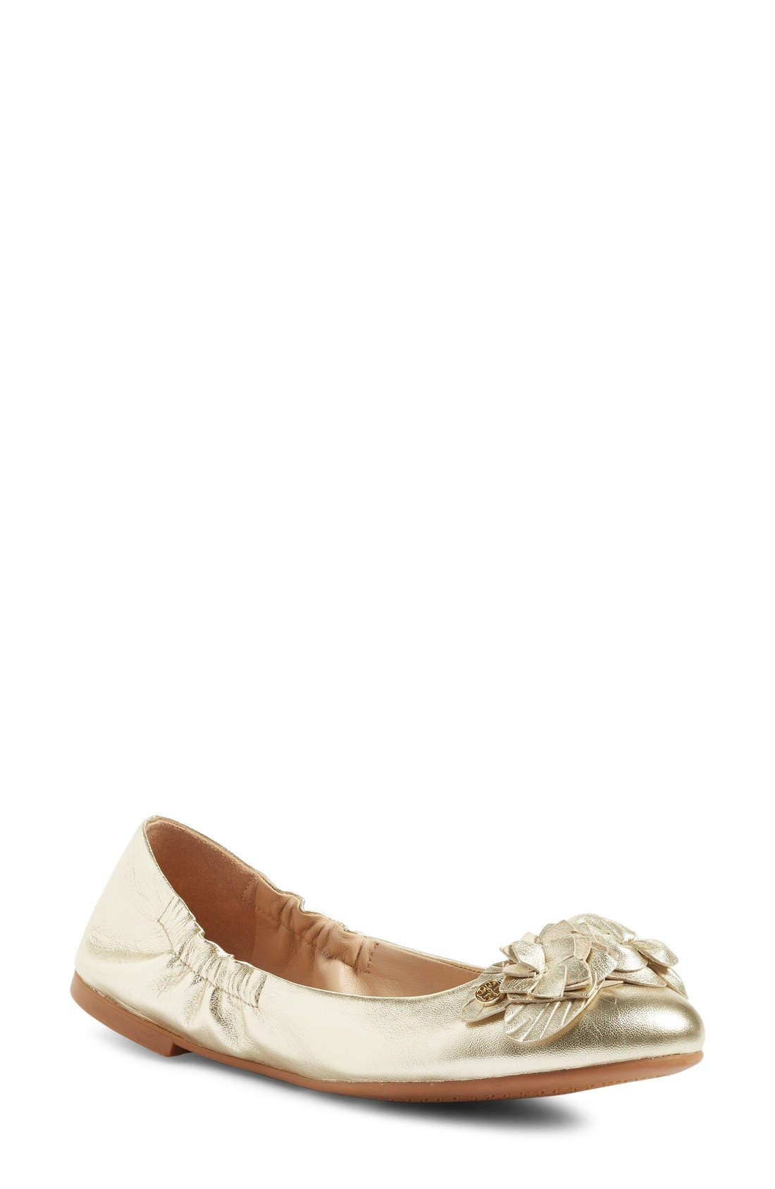 Alternate Image 1 Selected - Tory Burch 'Blossom' Ballet Flat (Women)