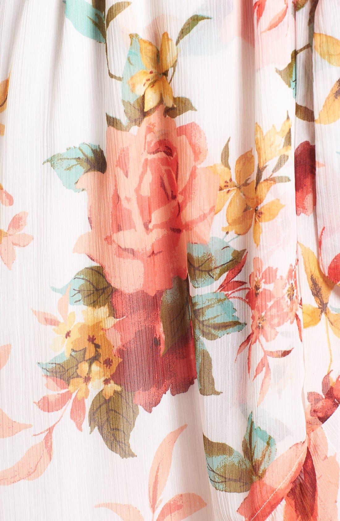 Alternate Image 5  - Band of Gypsies Floral Wrap Dress