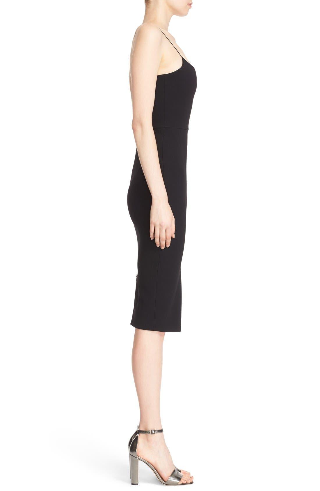 Alternate Image 4  - Victoria Beckham Sheer Inset Crepe Tulle Dress