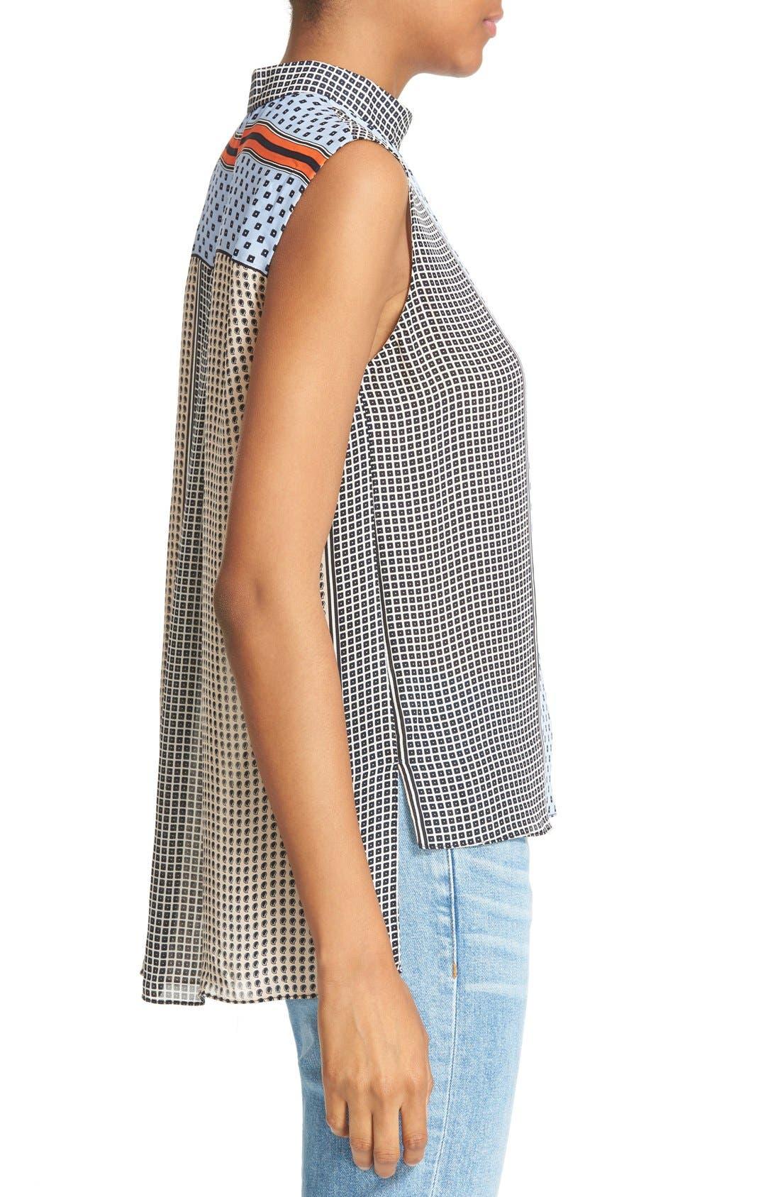 Alternate Image 3  - Derek Lam 10 Crosby Collar Detail Silk Blouse