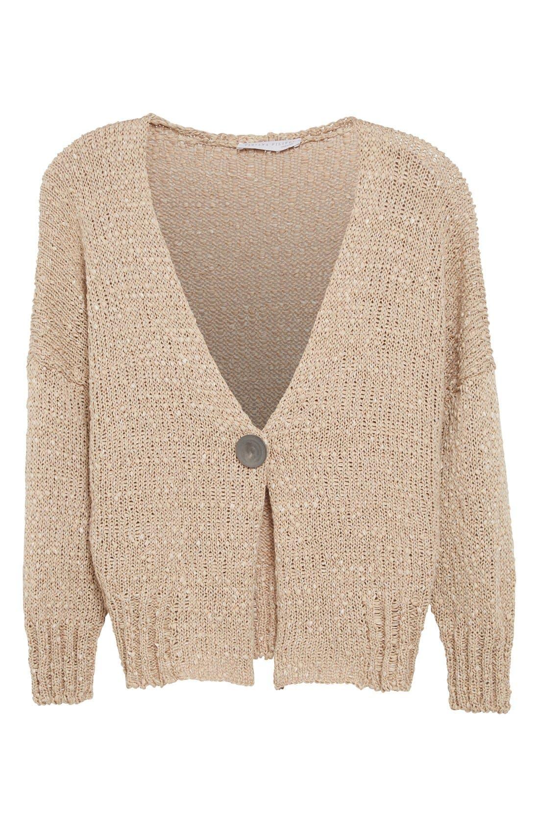 Alternate Image 4  - Fabiana Filippi Mixed Weave Cotton Blend Cardigan