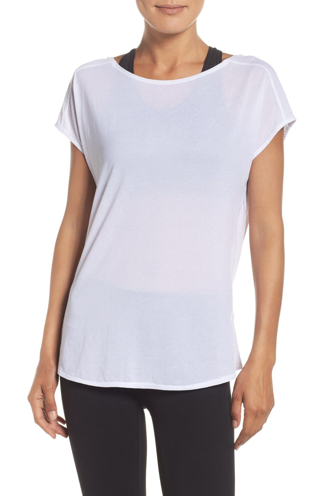 Alternate Image 1 Selected - Zella Arabesque Convertible Tee