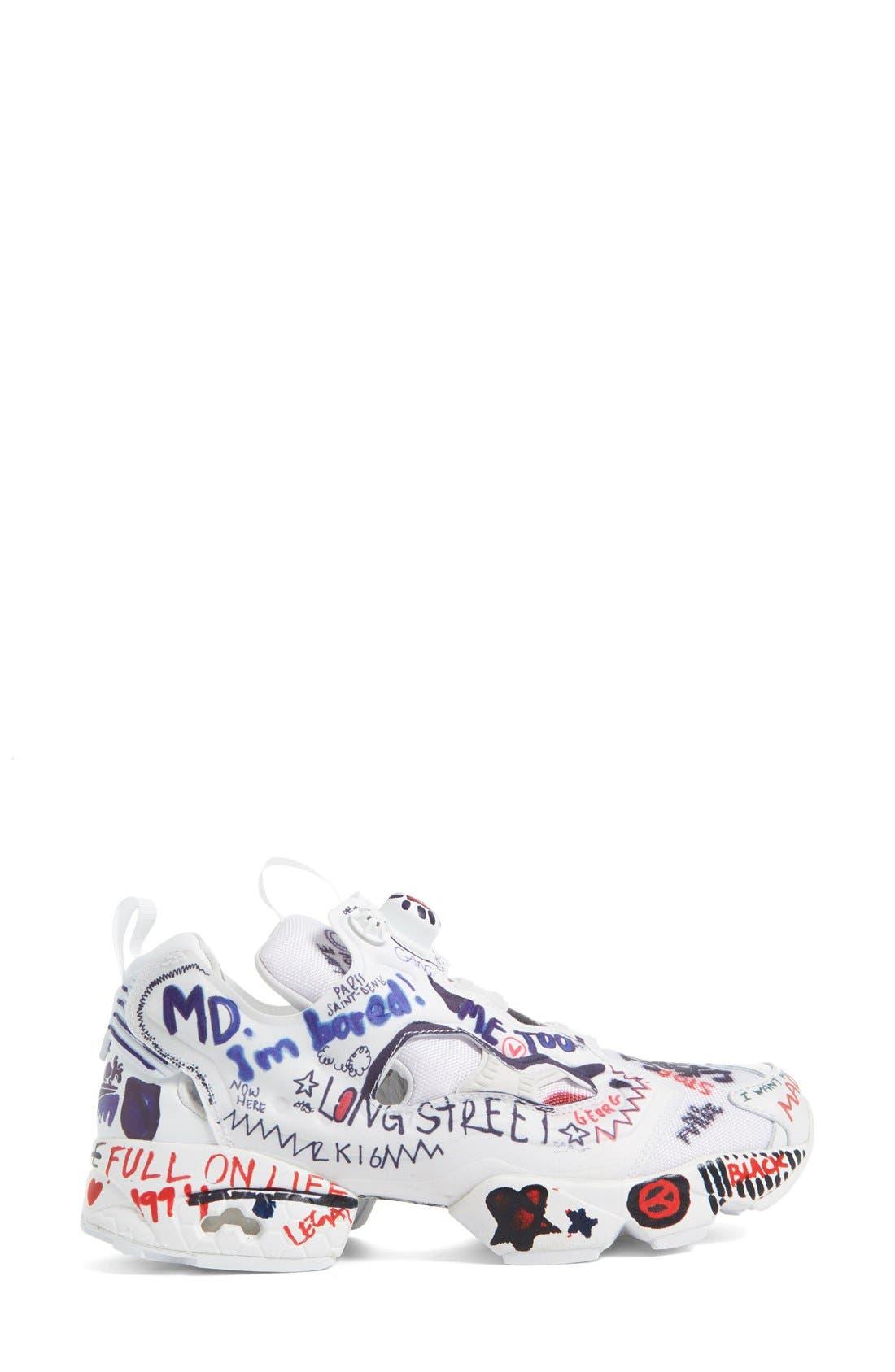 Alternate Image 4  - Vetements x Reebok Graffiti Instapump Fury Sneaker (Women)