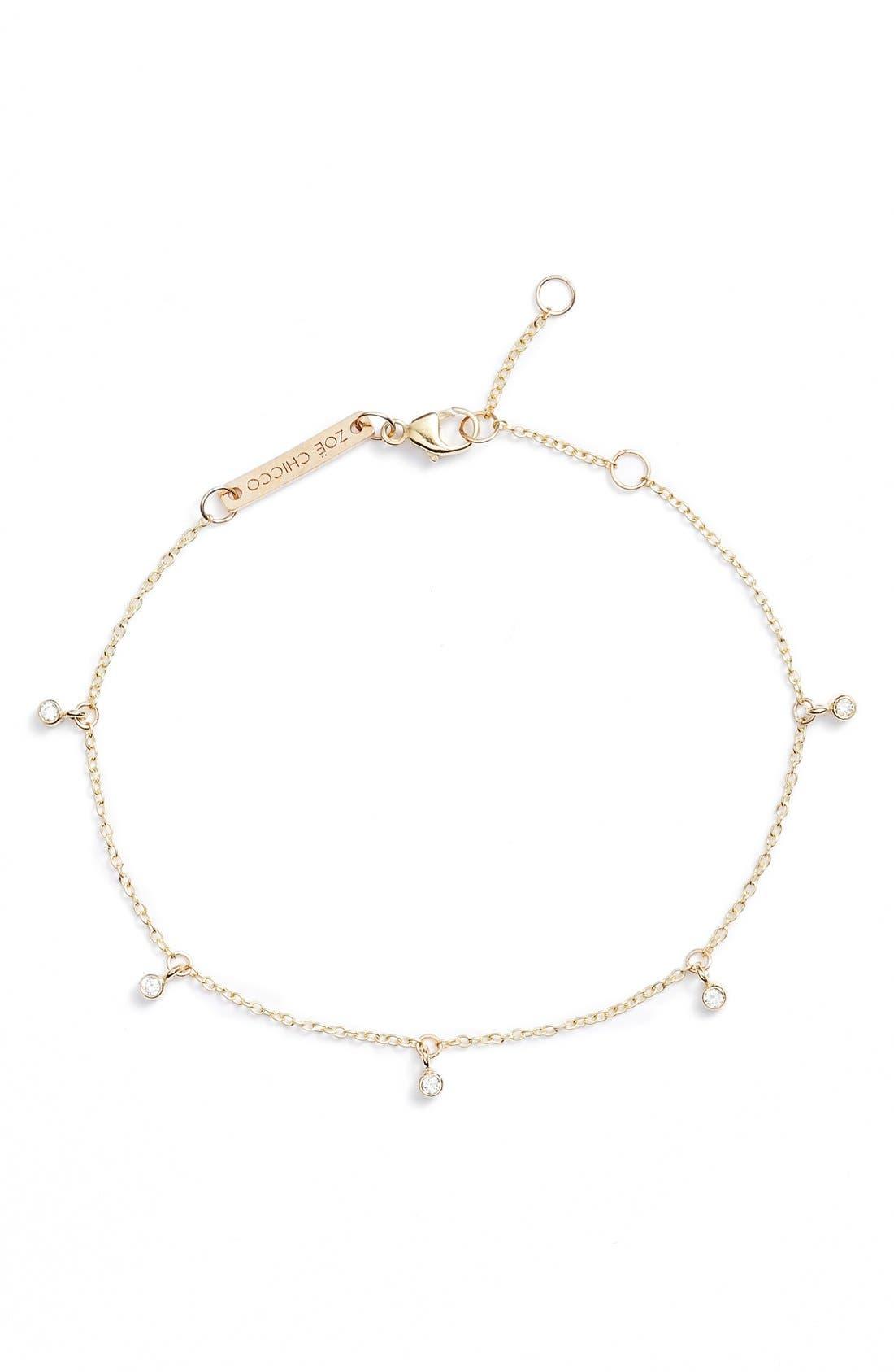 Zoë Chicco Dangling Diamond Bracelet