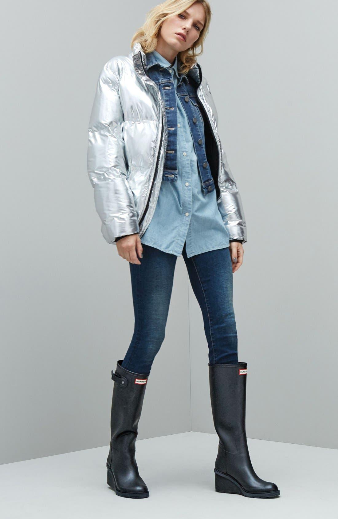 Alternate Image 7  - Hunter Original Refined Wedge Rain Boot (Women)