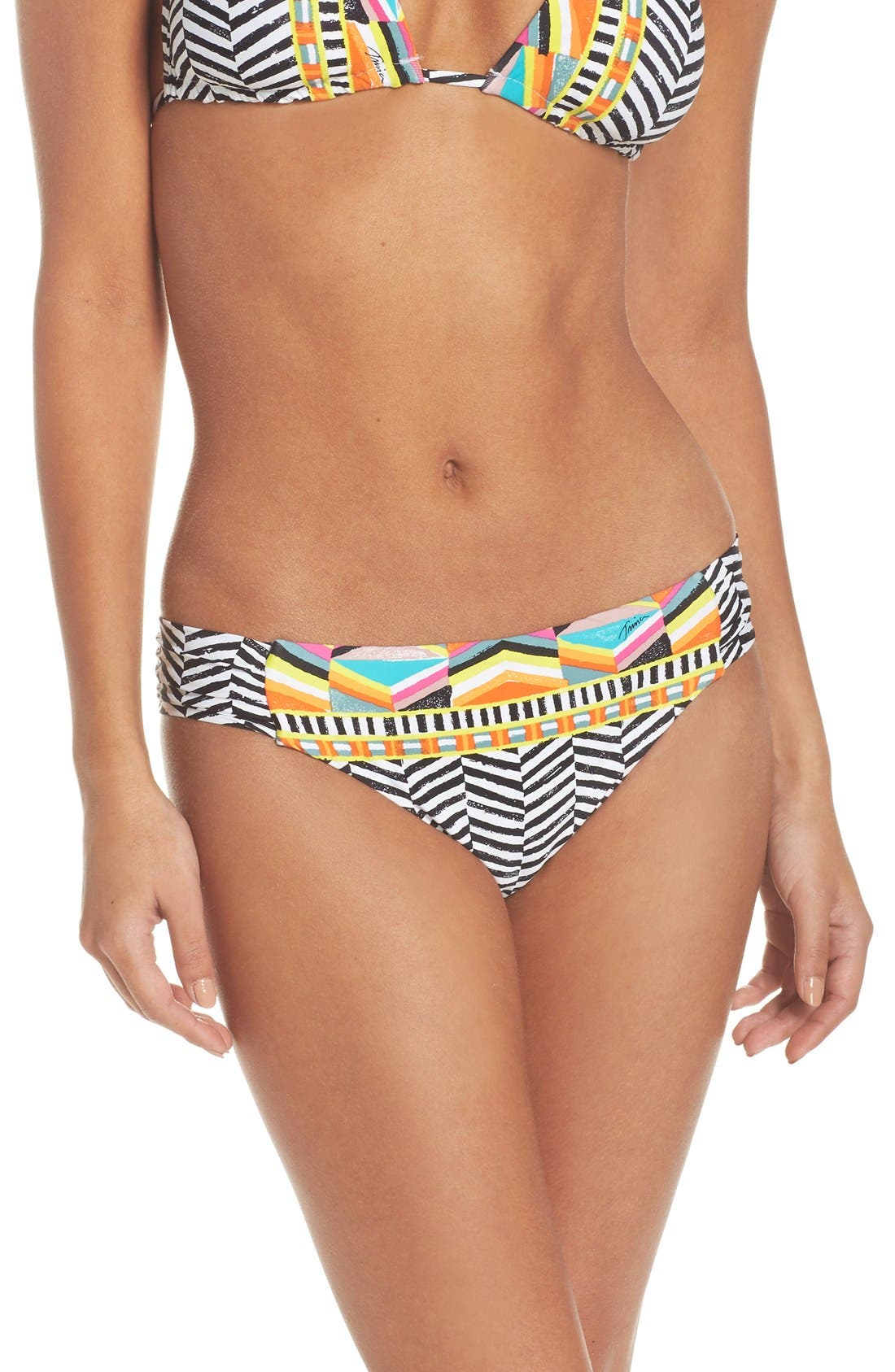 Alternate Image 1 Selected - Trina Turk Brasilia Shirred Hipster Bikini Bottoms
