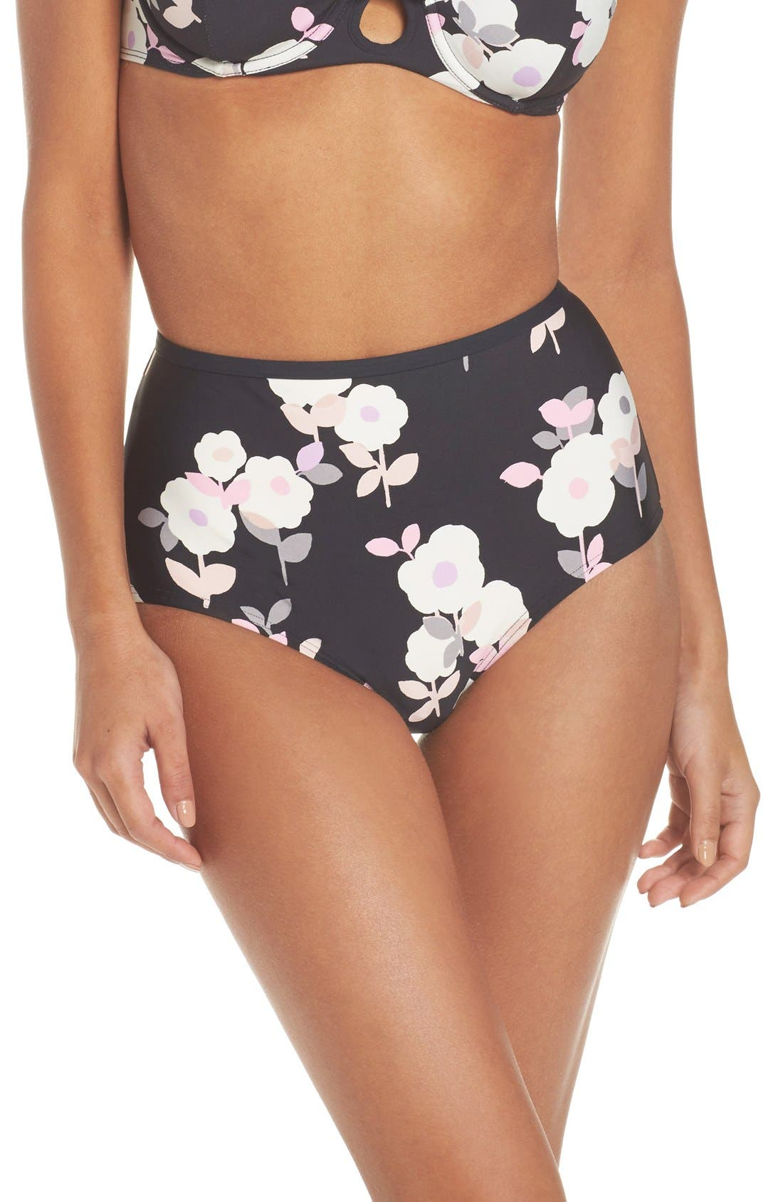 Main Image - kate spade new york high waist bikini bottoms