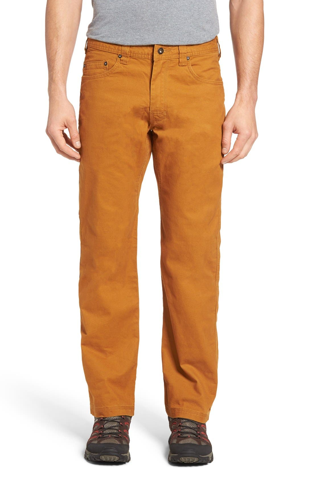 prAna 'Bronson' Straight Leg Stretch Canvas Pants