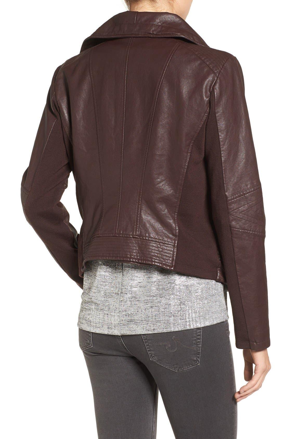 Alternate Image 2  - Levi's® Cowl Neck Faux Leather Jacket