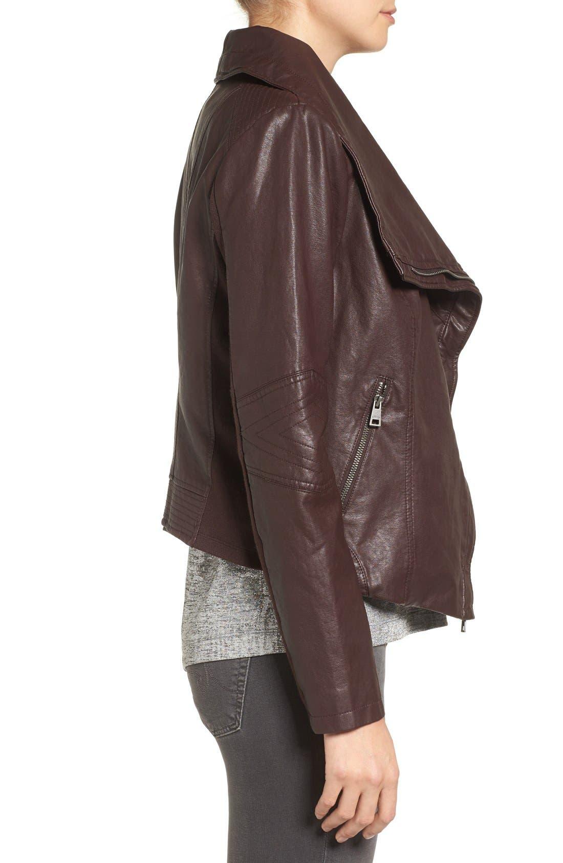 Alternate Image 3  - Levi's® Cowl Neck Faux Leather Jacket