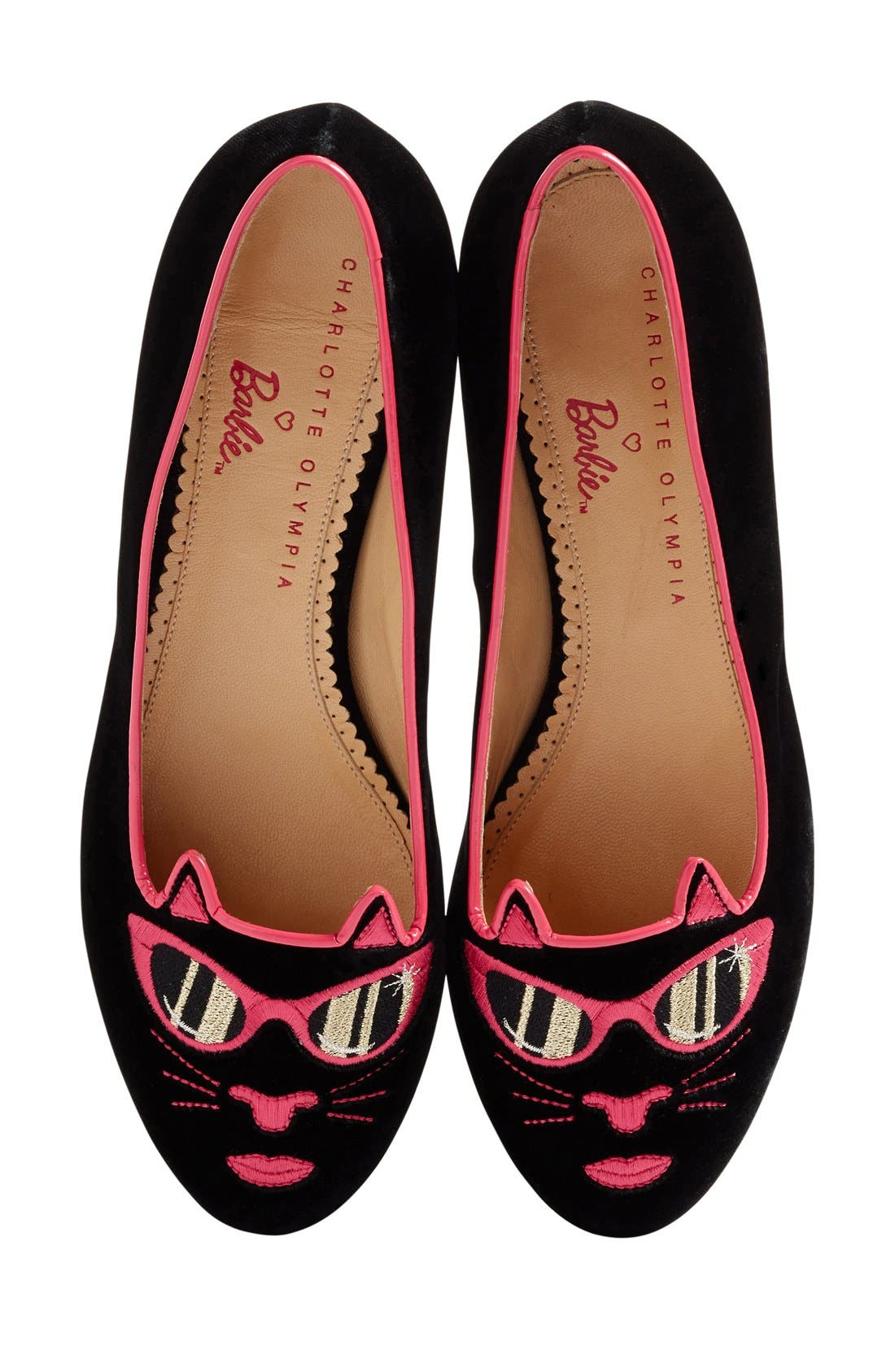 Alternate Image 1 Selected - Charlotte Olympia x Barbie® Pretty In Pink Kitty Flat (Women)
