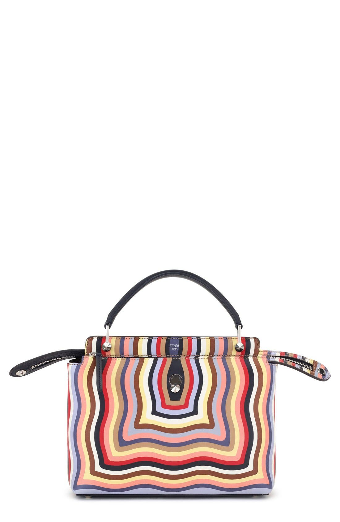 FENDI DOTCOM Hypnotic Wave Leather Satchel
