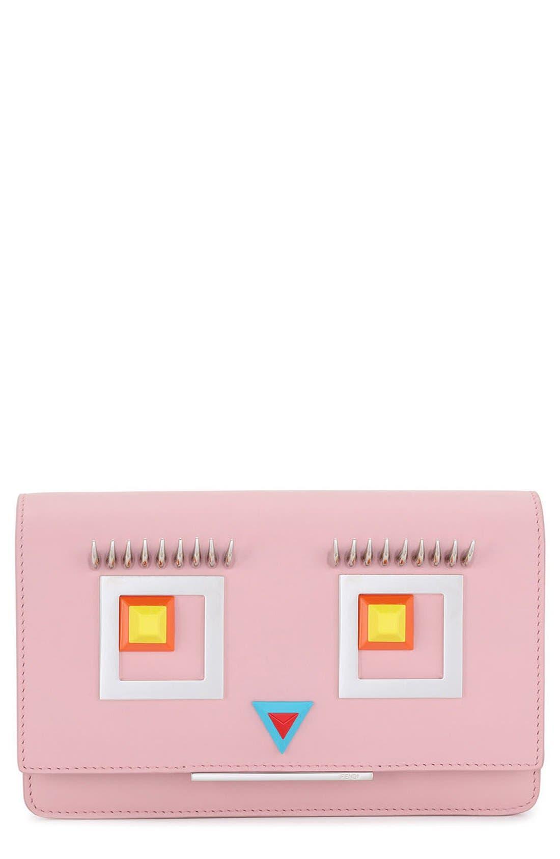 Main Image - Fendi Square Eyes Leather Wallet