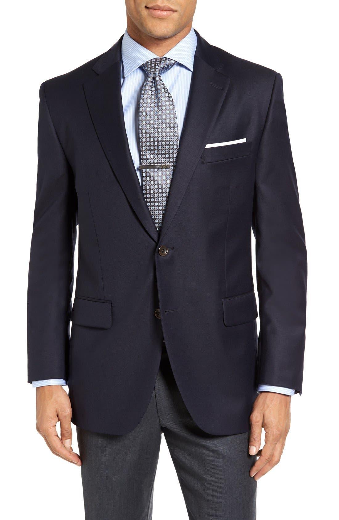 Alternate Image 1 Selected - Peter Millar 'Flynn' Classic Fit Navy Wool Blazer