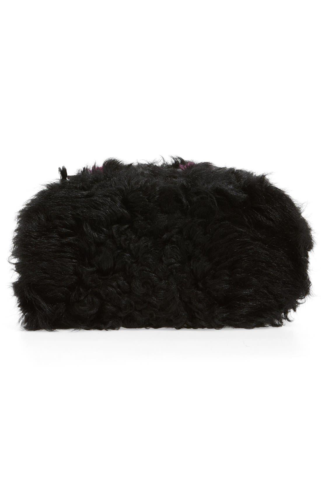 Alternate Image 6  - Fendi 'Mini Monster' Genuine Shearling & Genuine Mink Fur Backpack