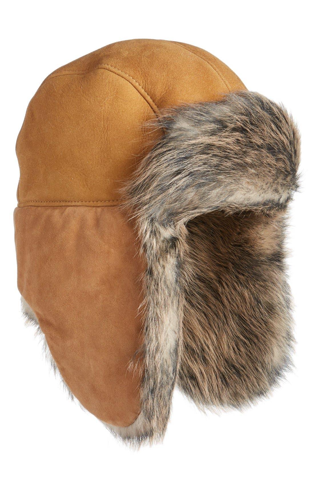 Main Image - UGG® Genuine Shearling Trapper Hat