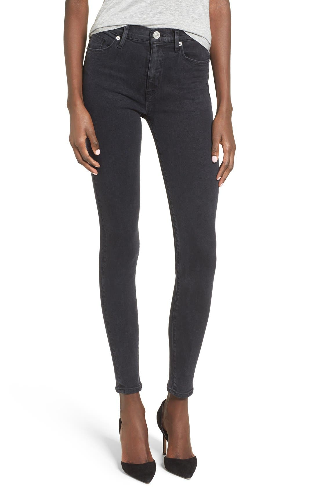 Main Image - Hudson Jeans Barbara High Waist Super Skinny Jeans (Bazooka)