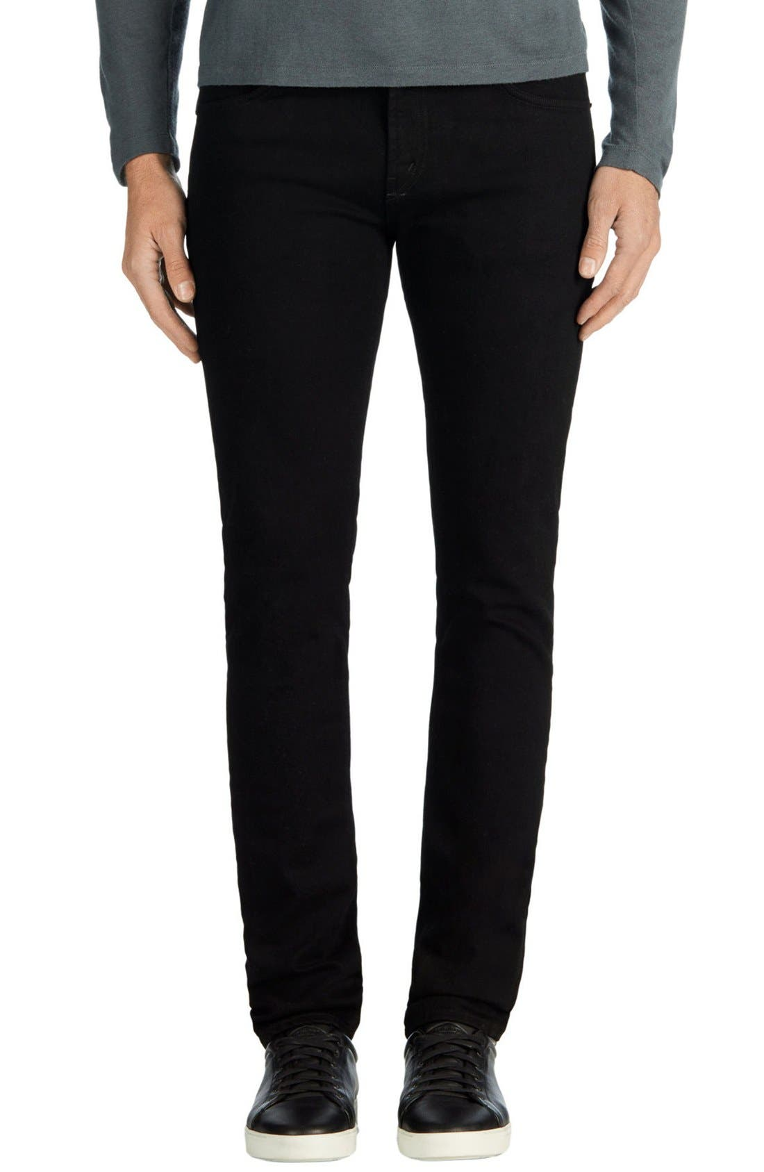Alternate Image 1 Selected - J Brand Skinny Jeans (Trivor Black)