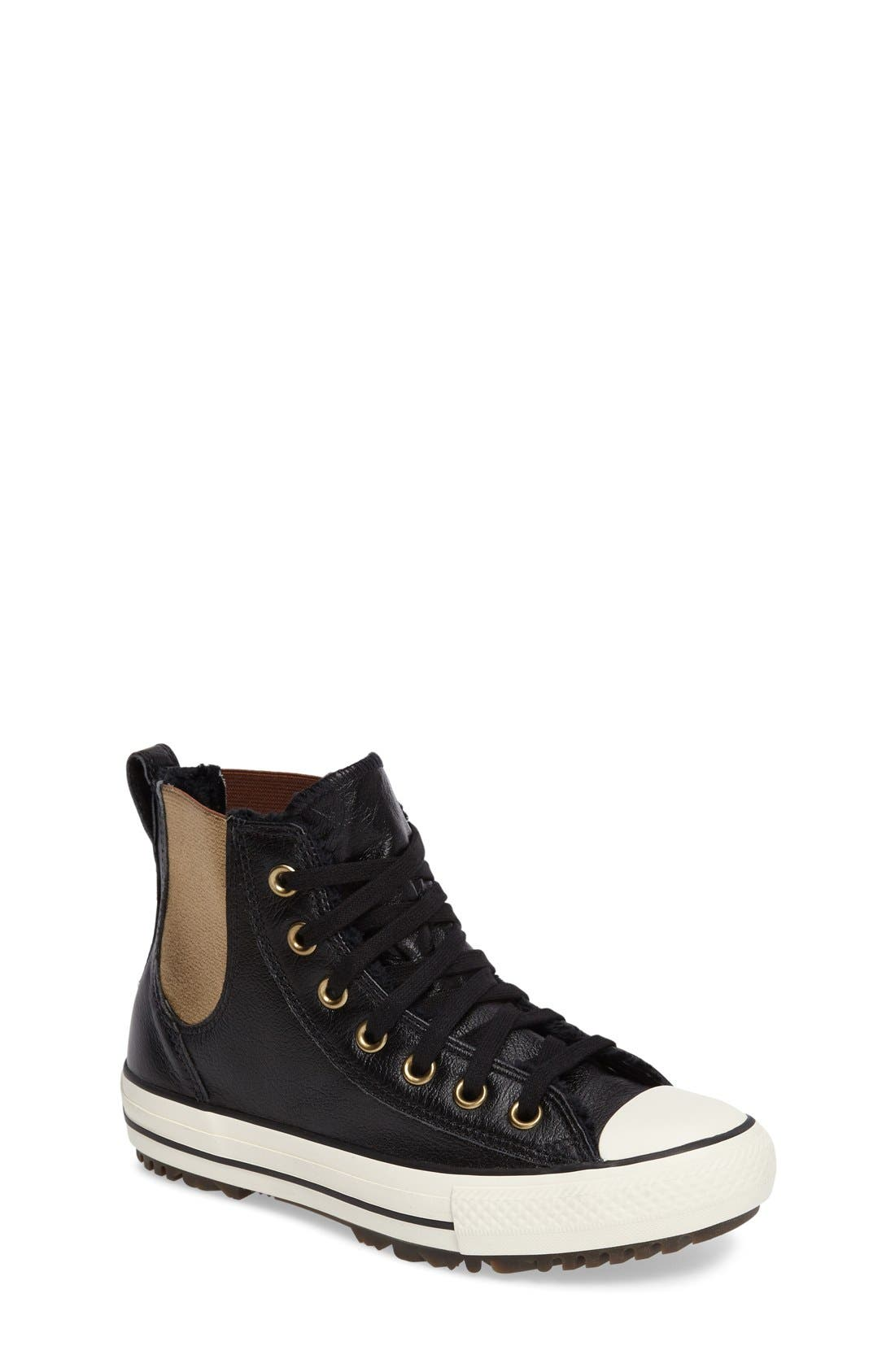 Main Image - Converse Chuck Taylor® All Star® Faux Fur Chelsea Sneaker (Women)