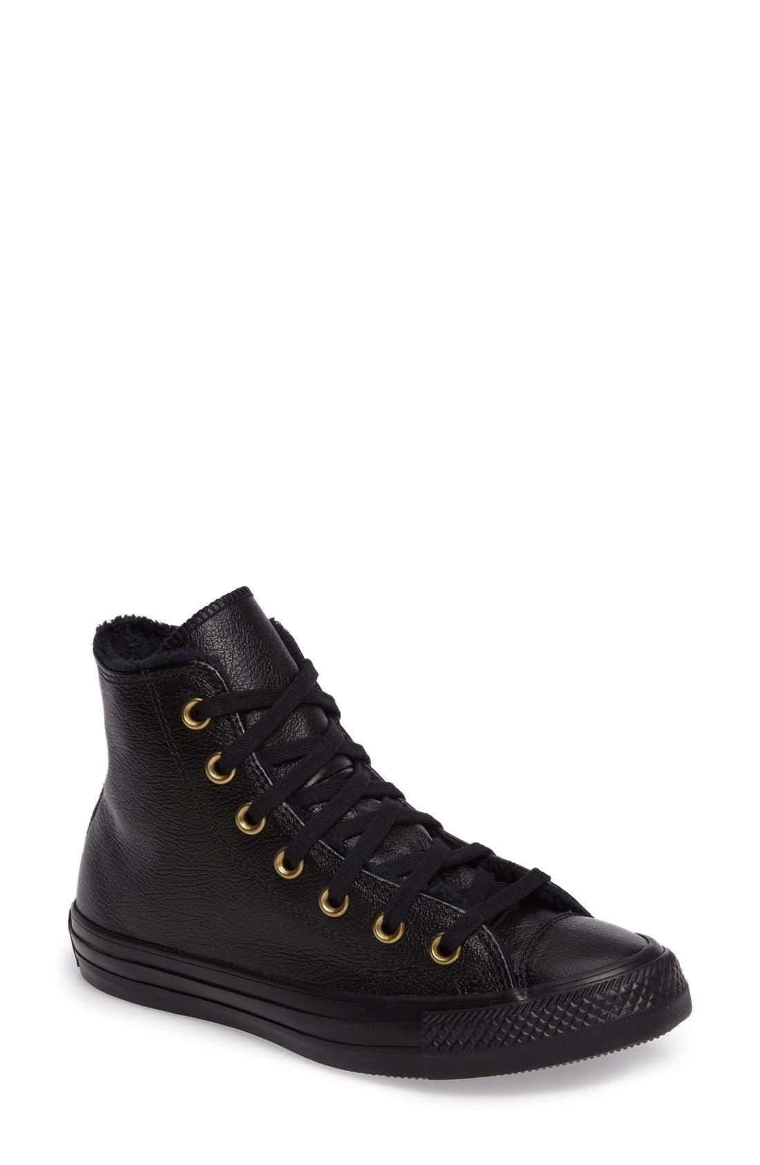 Main Image - Converse Chuck Taylor® All Star® Faux Fur High Top Sneaker (Women)