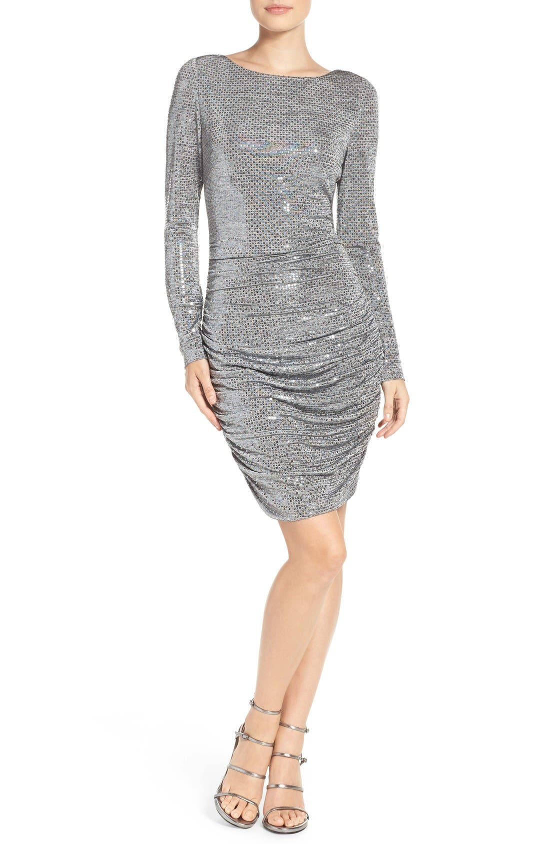 Alternate Image 2  - Vince Camuto Sequin Body-Con Dress