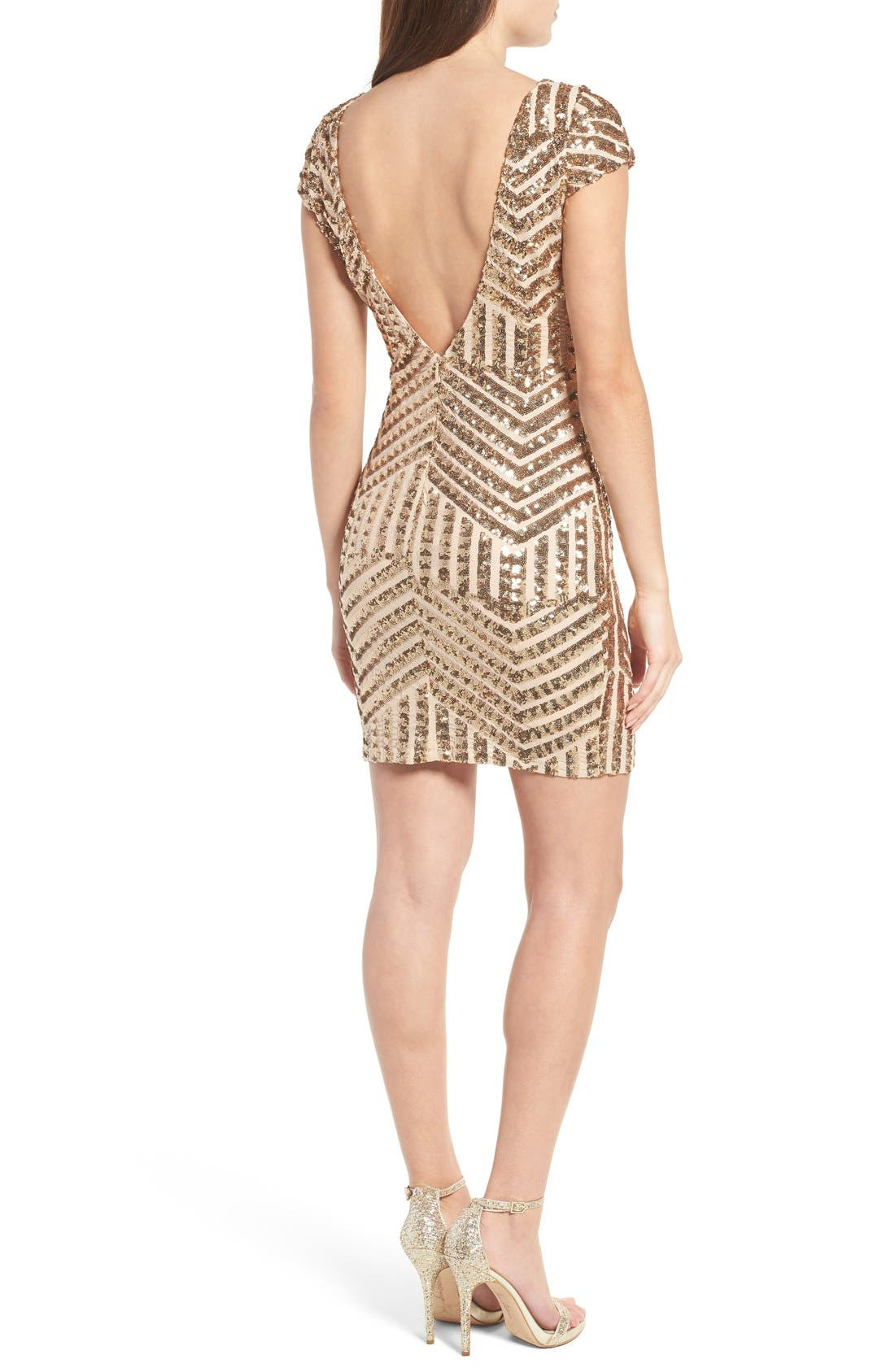 Alternate Image 2  - TFNC Colette Sequin Body-Con Dress
