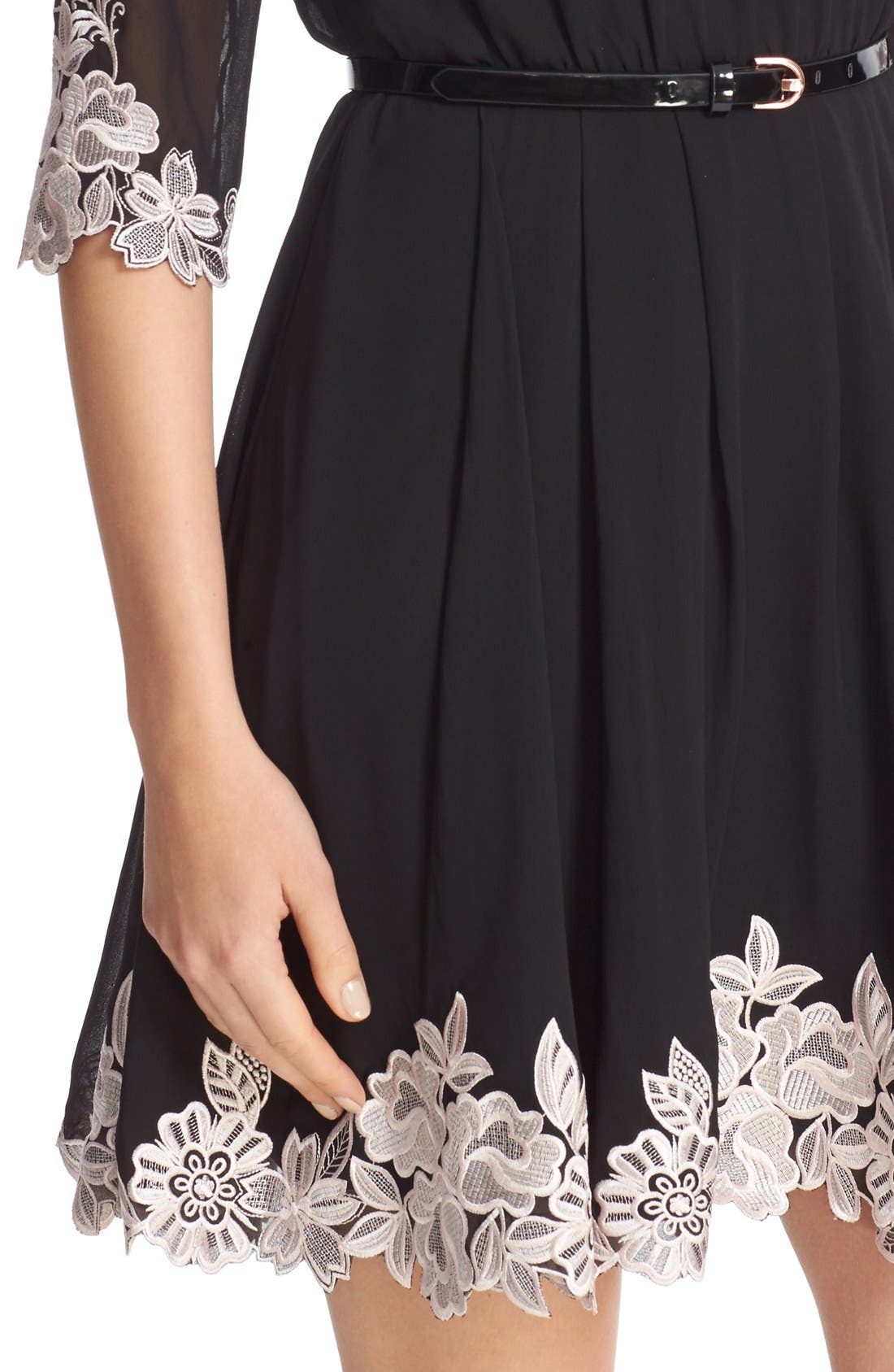 Alternate Image 4  - Ted Baker London Feay Belted Lace Embellished Dress