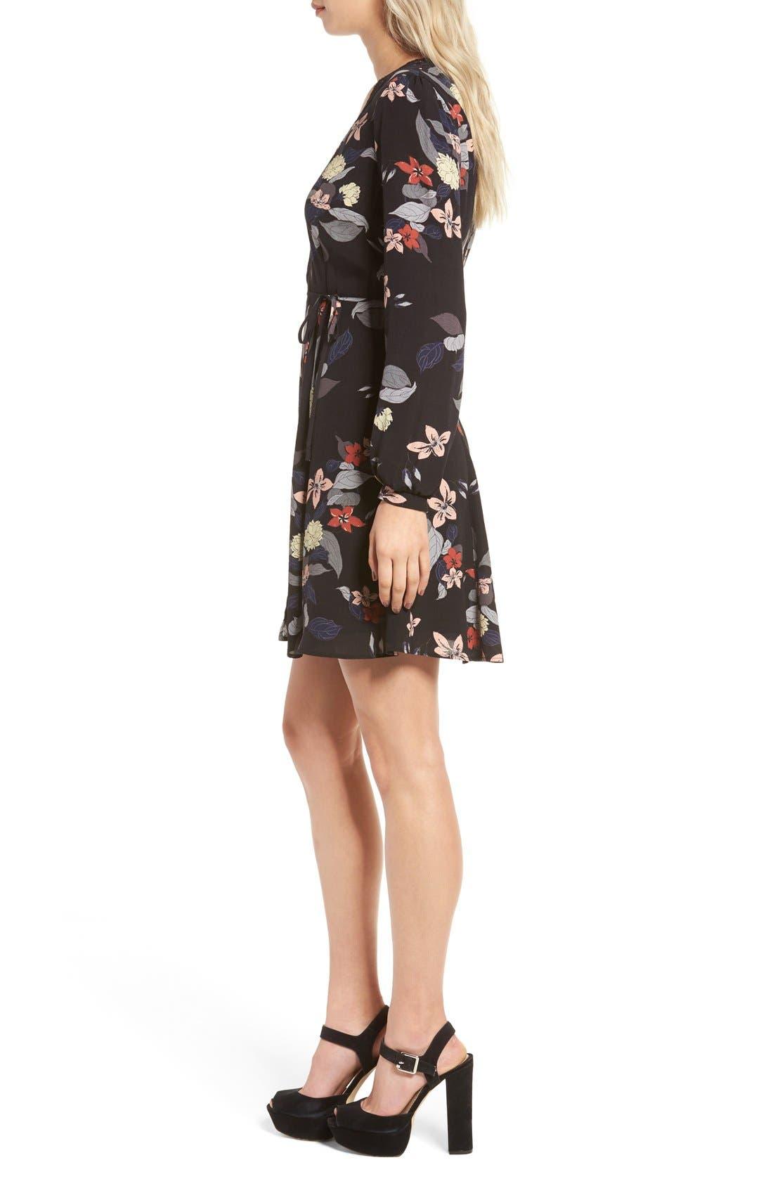 Alternate Image 3  - ASTR Floral Print Wrap Dress