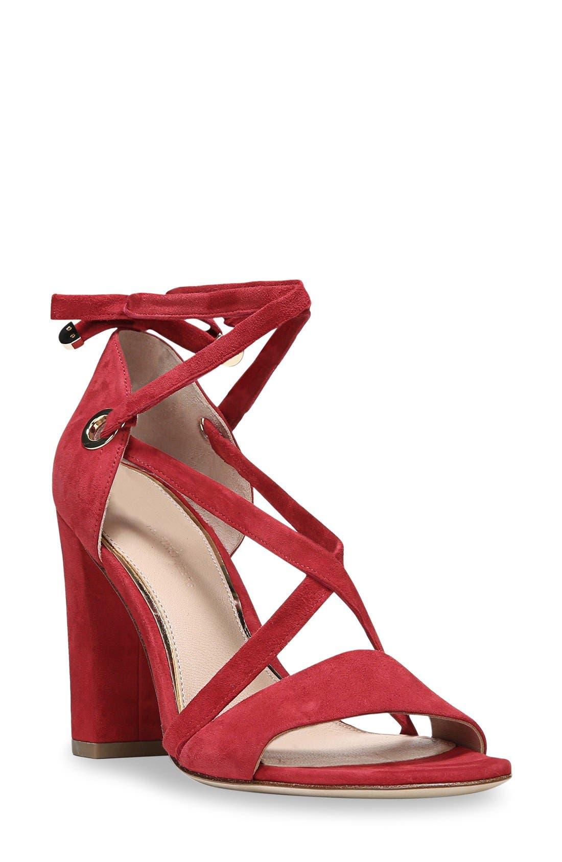 Diane von Furstenberg Calabar Ankle Tie Sandal (Women)