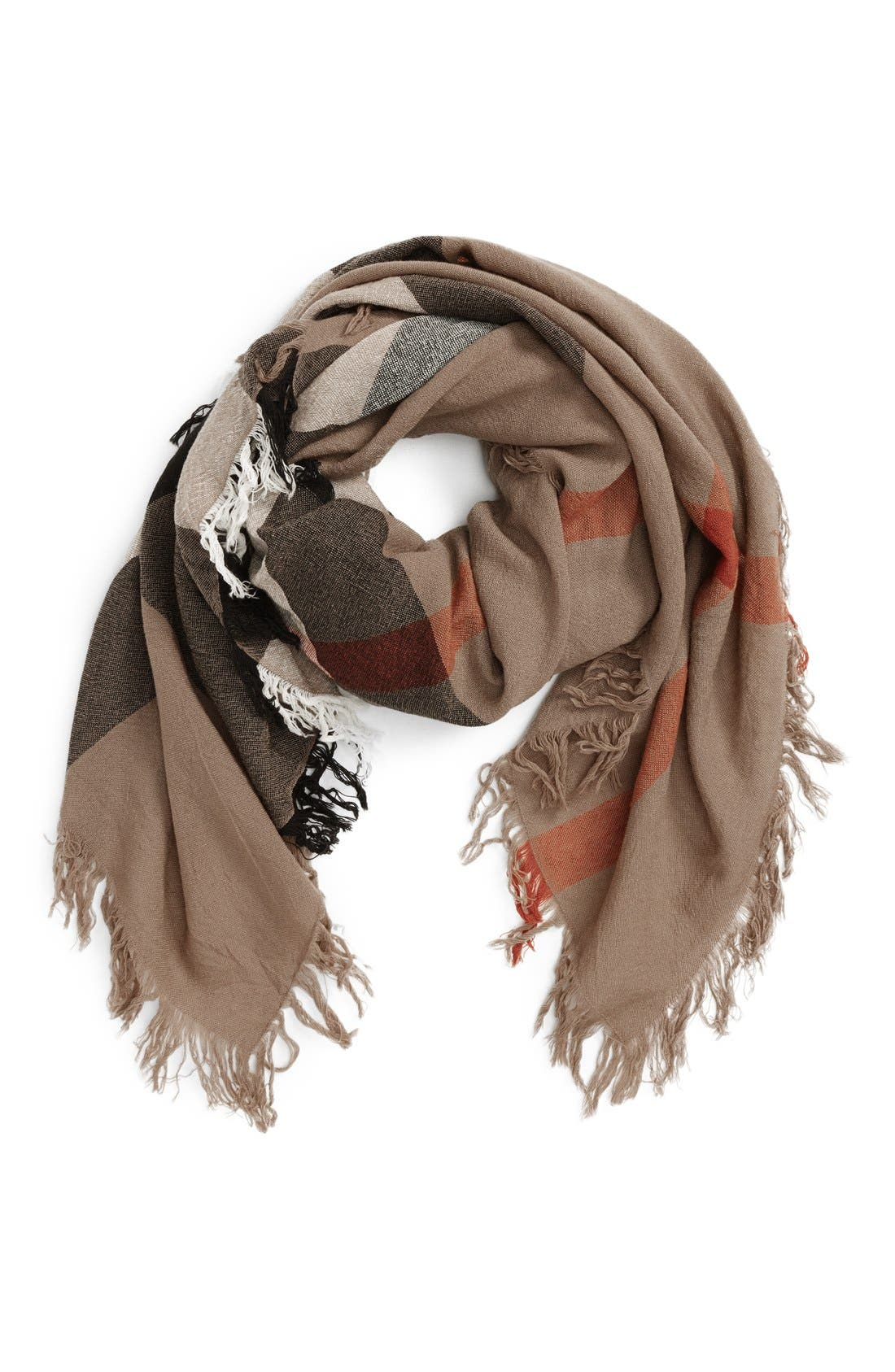 Alternate Image 2  - Burberry Check Merino Wool Scarf