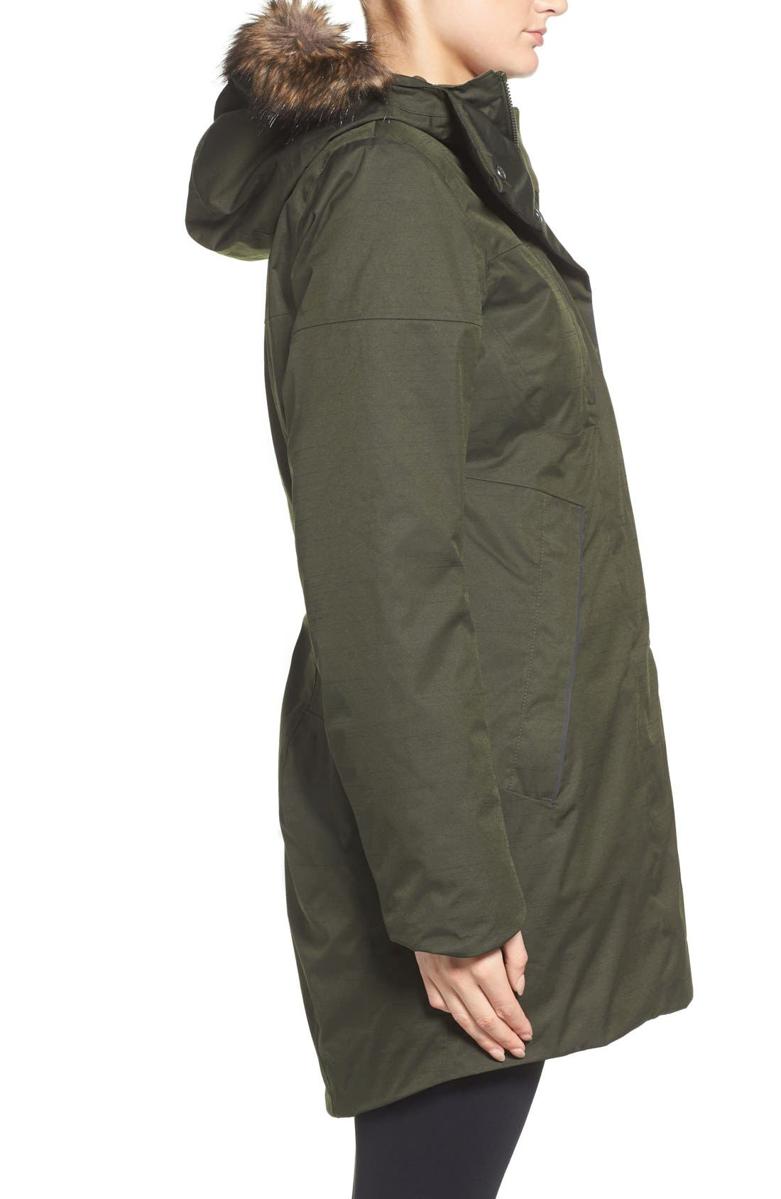 Alternate Image 3  - The North Face Far Northern Waterproof Down Parka with Faux Fur Trim