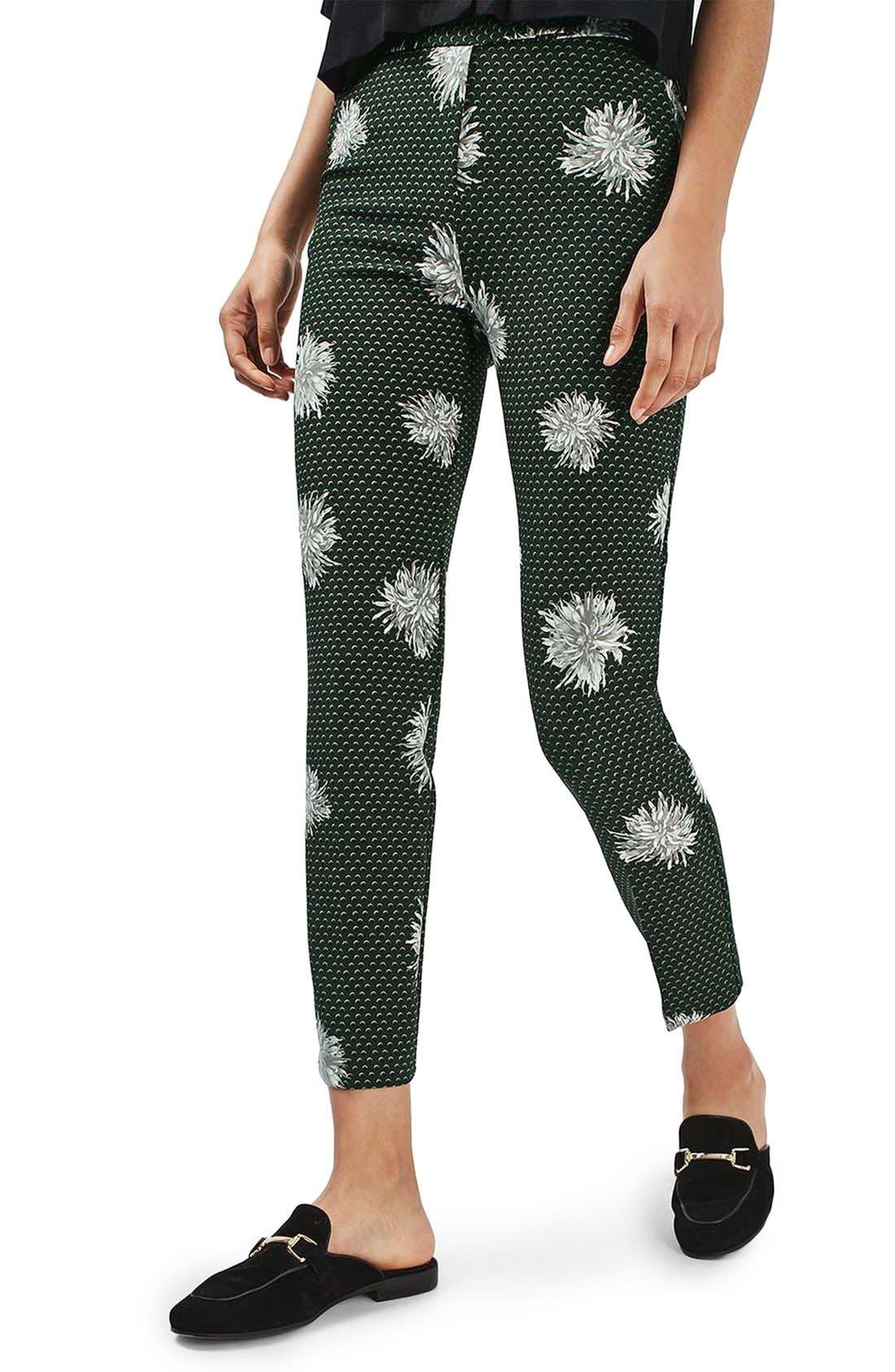 Alternate Image 1 Selected - Topshop Floral Spot Pants