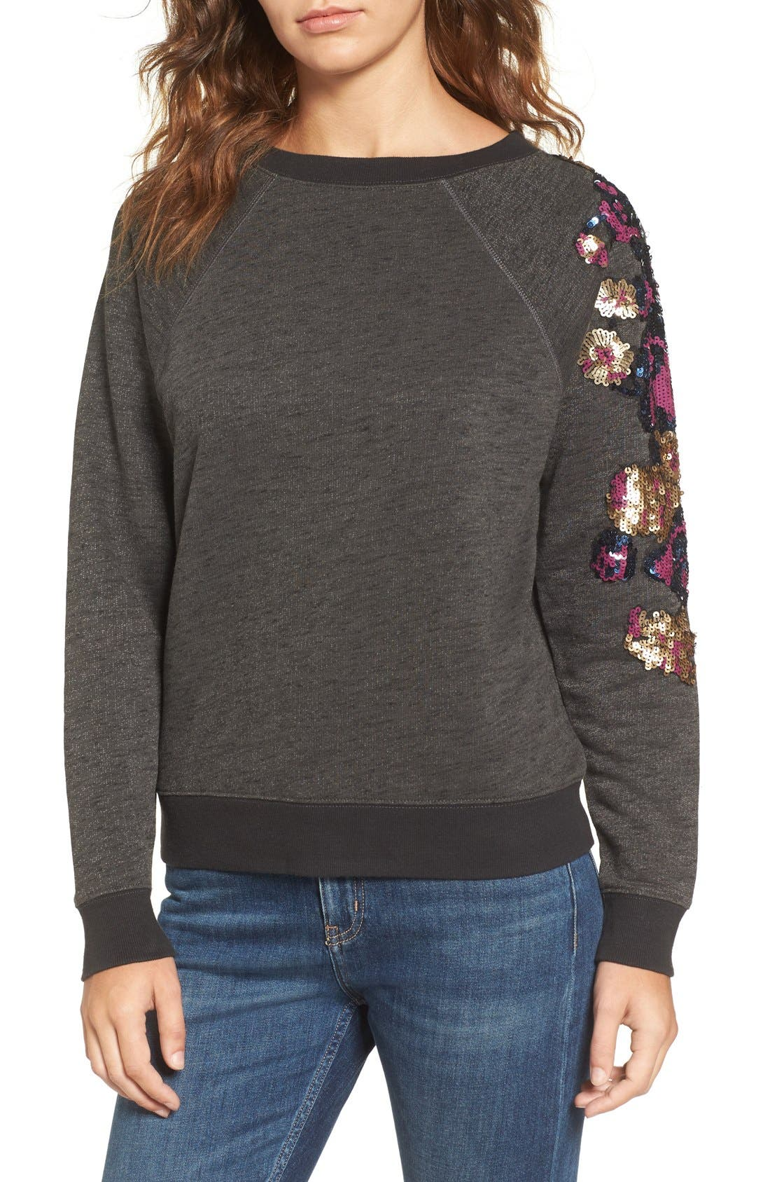 Alternate Image 1 Selected - Rebecca Minkoff Sequin Sweatshirt