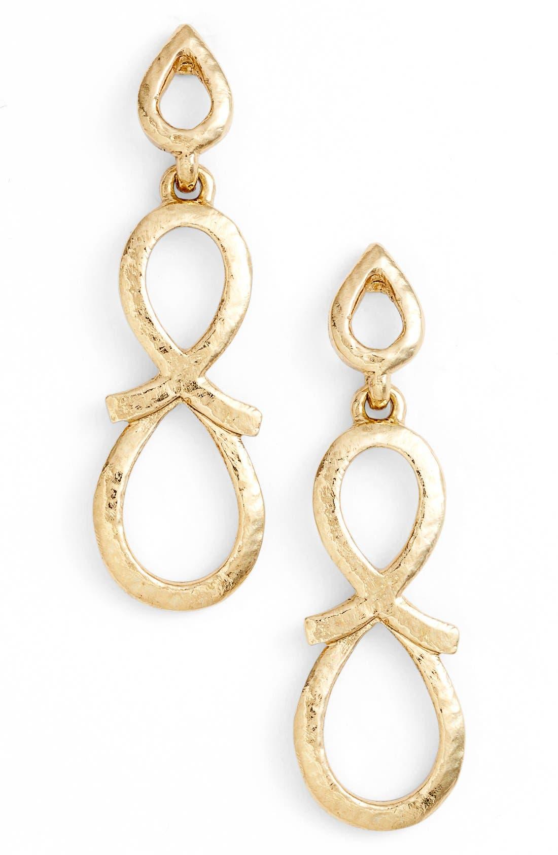 Main Image - Oscar de la Renta 'Infinity Loop' Drop Earrings