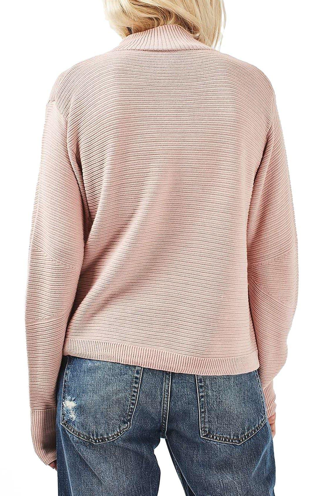 Alternate Image 3  - Topshop Mixed Stitch Sweater