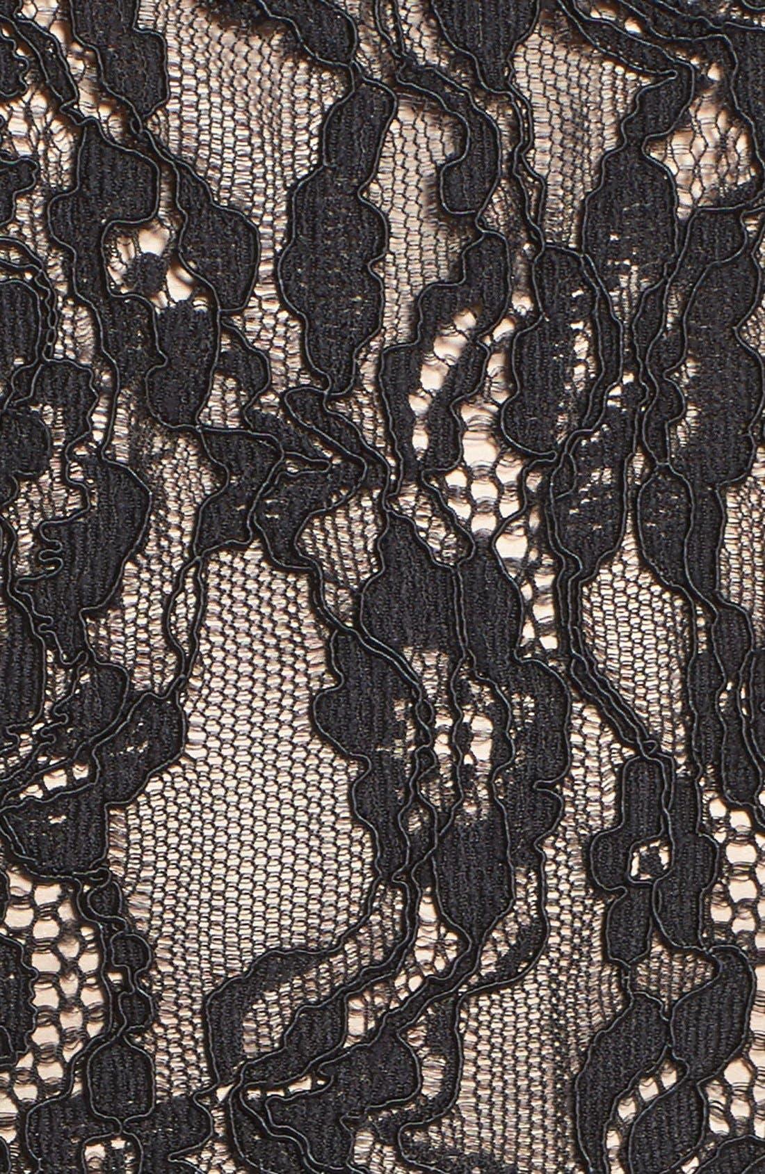 Alternate Image 6  - Aidan by Aidan Mattox Lace & Chiffon Midi Dress