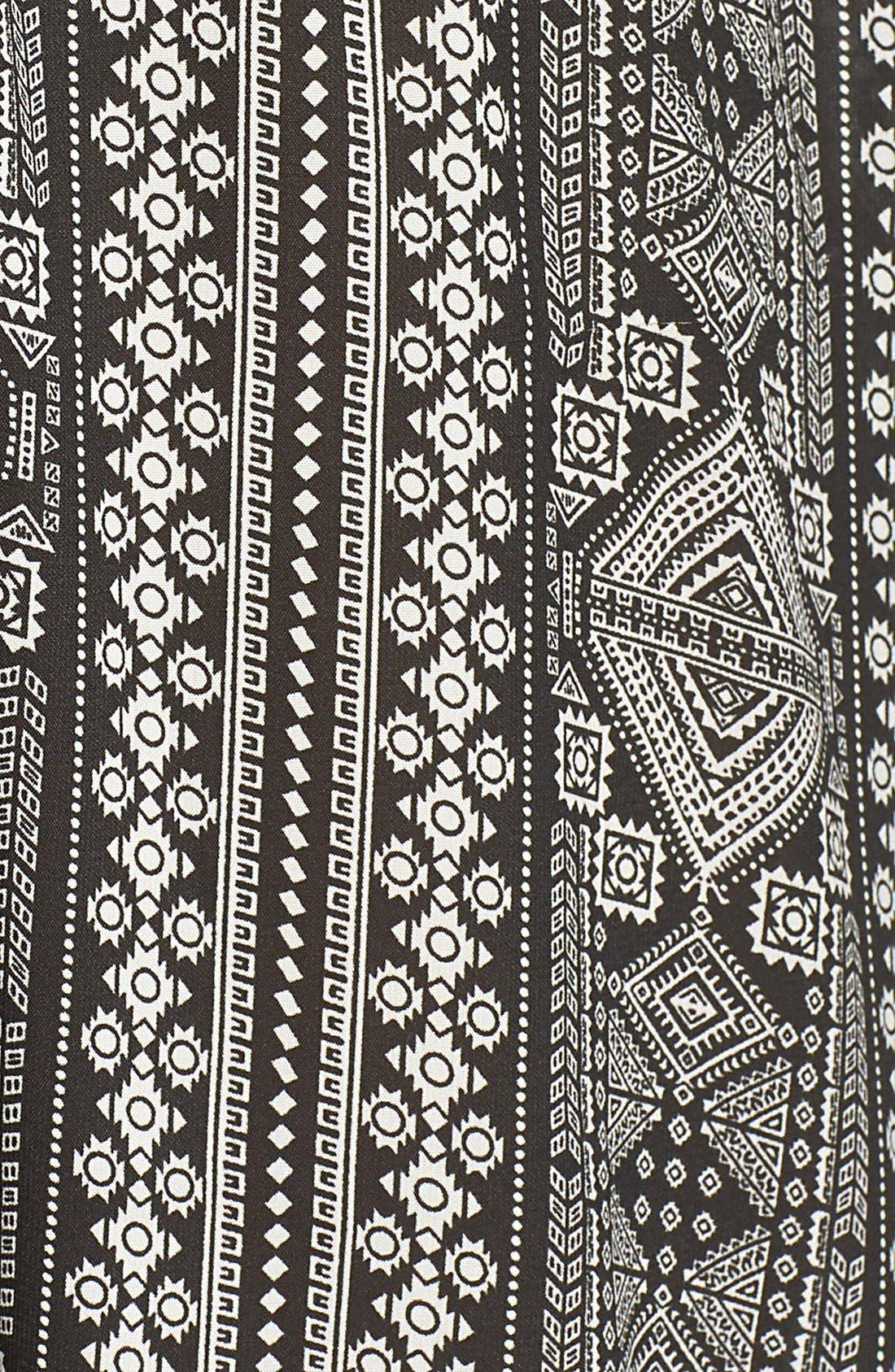 Alternate Image 5  - ElanPrint Woven Cover-Up Caftan Maxi Dress