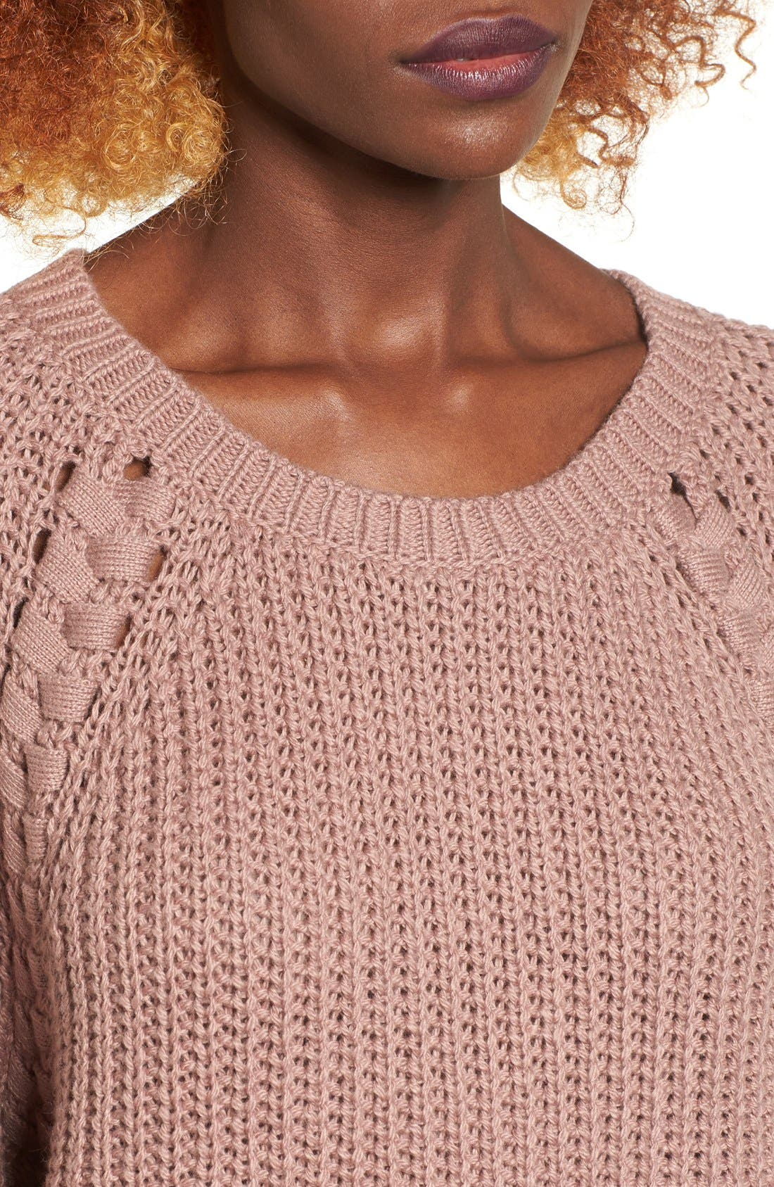 Alternate Image 4  - BP. Braided Detail Pullover