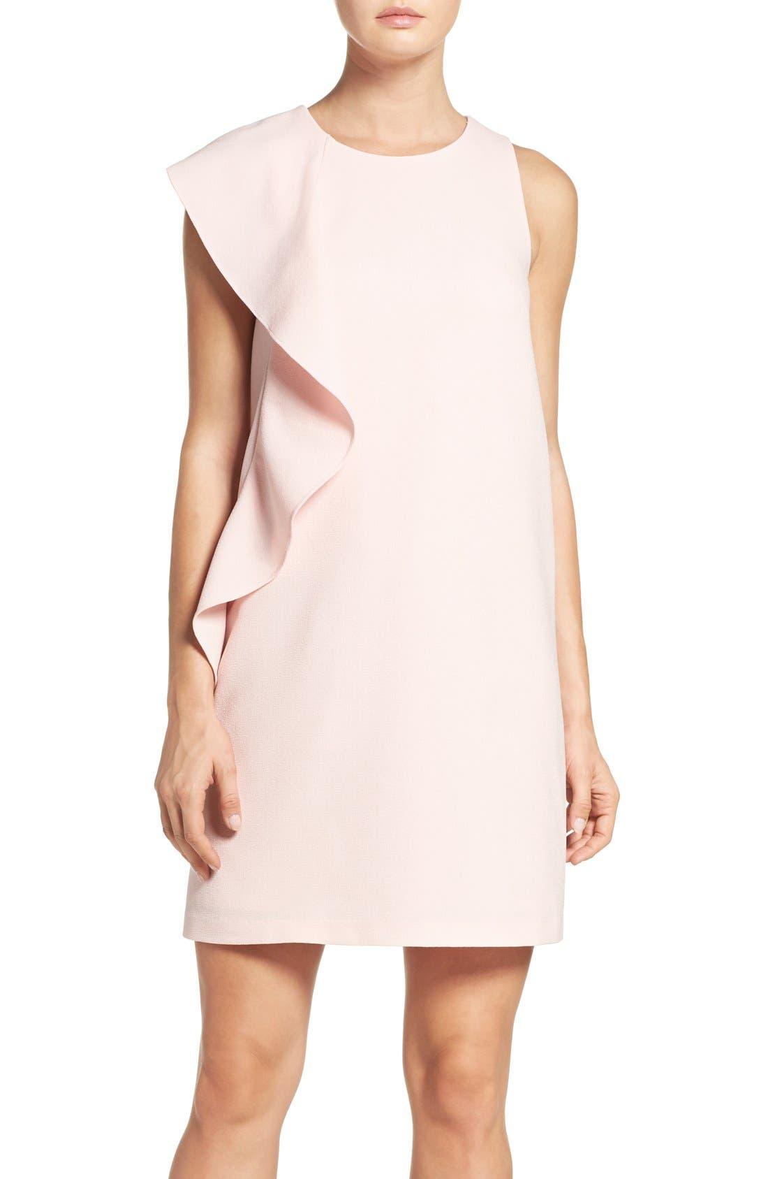 Alternate Image 1 Selected - Chelsea28 Asymmetrical Ruffle Shift Dress