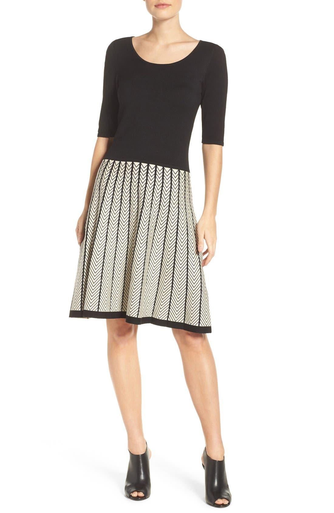 Alternate Image 4  - Gabby Skye Fit & Flare Sweater Dress