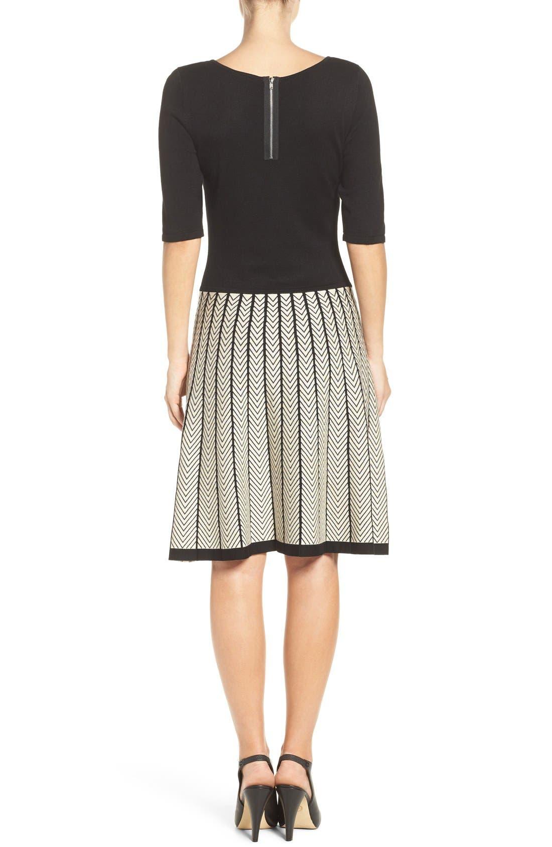 Alternate Image 2  - Gabby Skye Fit & Flare Sweater Dress