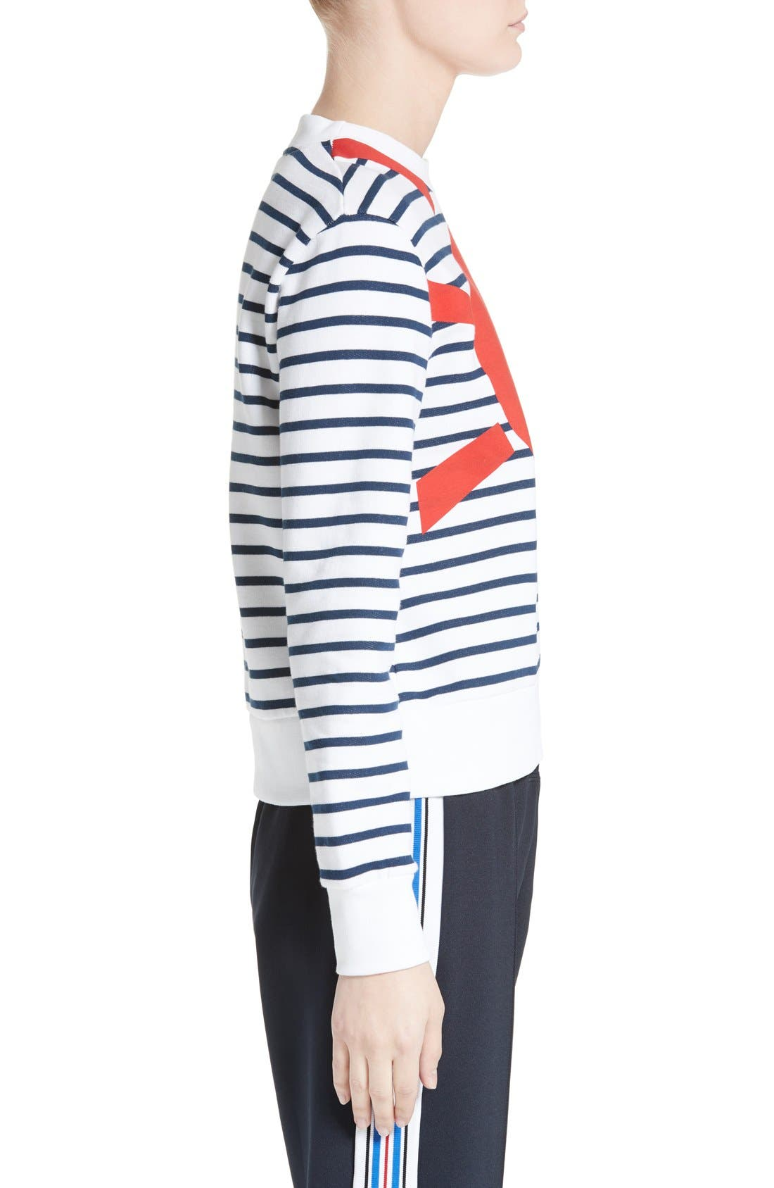 Alternate Image 3  - être cécile Sunny Side Up Stripe Graphic Sweatshirt