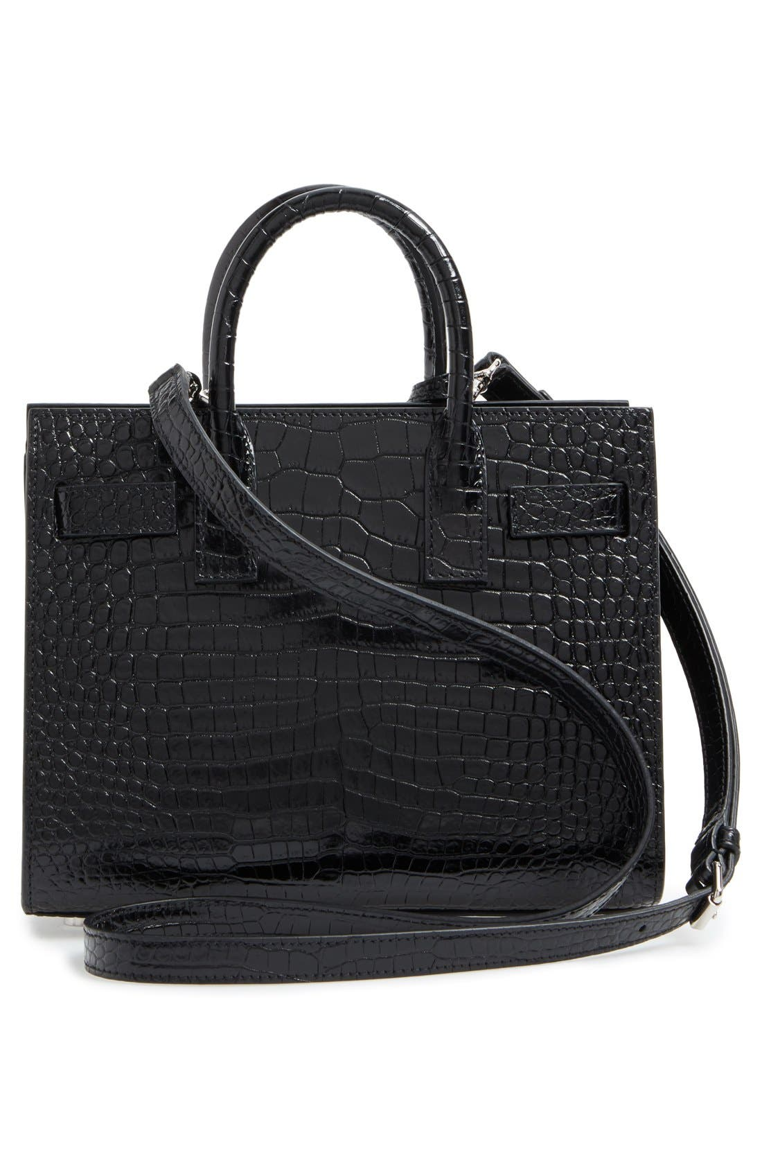 Alternate Image 2  - Saint Laurent Nano Sac de Jour Croc Embossed Leather Tote