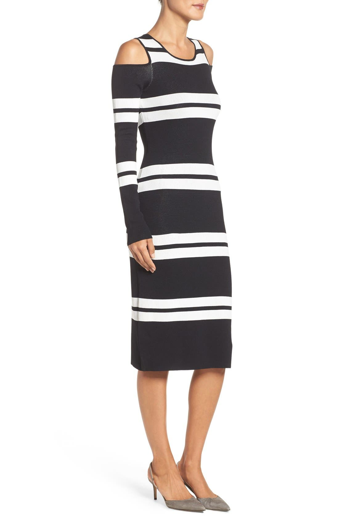 Alternate Image 3  - Eliza J Stripe Midi Dress (Regular & Petite)