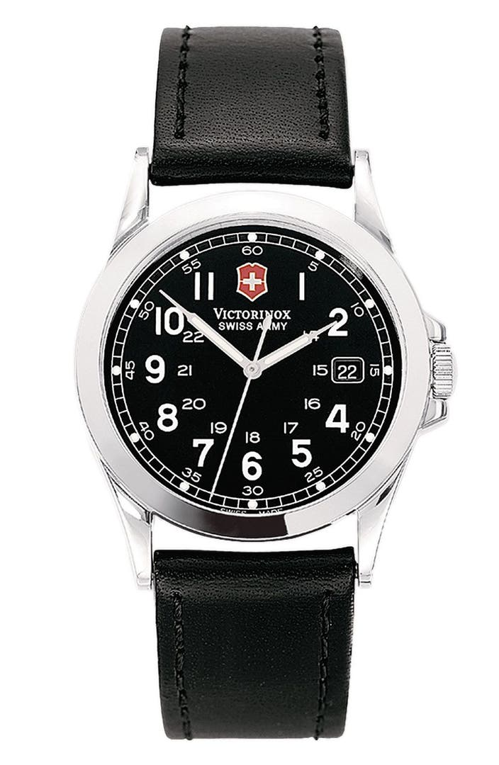 Victorinox Swiss Army 174 Infantry 38mm Watch With Leather Band Nordstrom